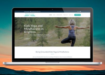 Being Grounded – Fresh brand and responsive website for up and coming small business